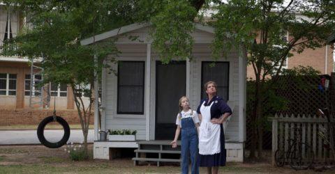 Scene from annual performance of To Kill a Mockingbird in Monroeville