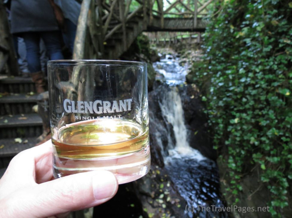 A glass of Glen Grant whisky on Speyside in Scotland