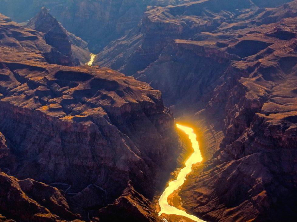 Colorado River running through the Grand Canyon in Arizona